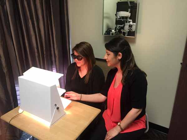 vision therapy test and exercises